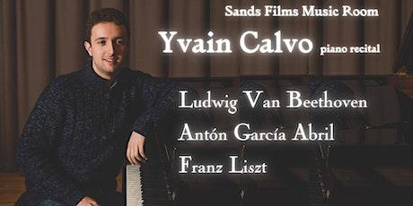 Yvain Calvo piano recital (Online access) tickets