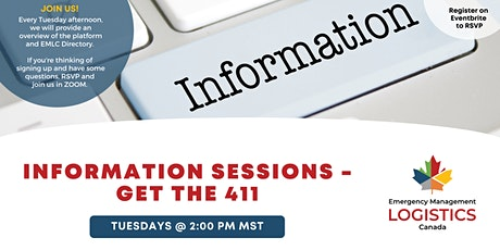 Emergency Management Logistics Canada -- Weekly Information Session tickets