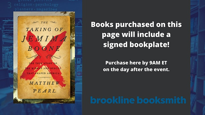 Matthew Pearl: The Taking of Jemima Boone image