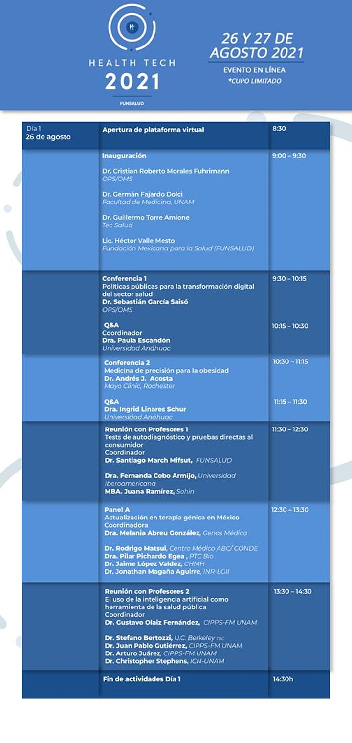 Imagen de Health Tech Summit FUNSALUD 2021