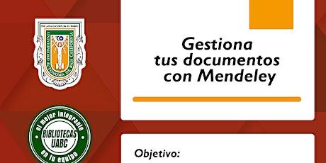 Gestiona tus documentos con Mendeley tickets