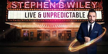 The unpredictable Stephen B Wiley tickets