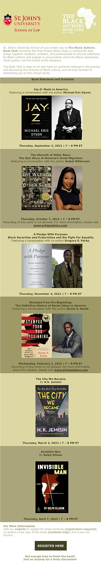 The Black Authors Book Club, St. John's School of Law image