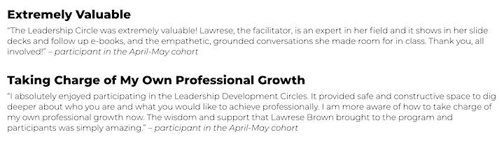 Leadership Development Coaching Circle image