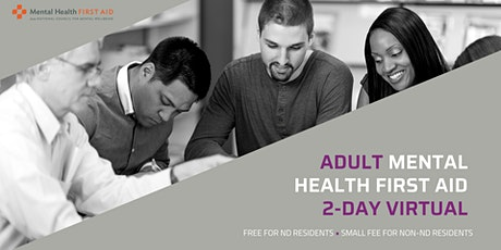Adult Mental Health First Aid  (2-day virtual) tickets