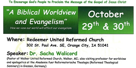 A Biblical Worldview and Evangelism tickets