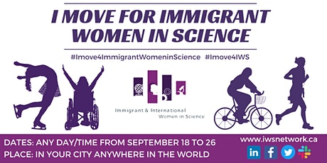 """""""I Move for Immigrant Women in Science"""" 2021 tickets"""