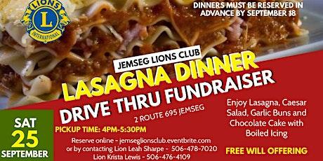 Jemseg Lions Club Drive Thru Lasagna Dinner tickets