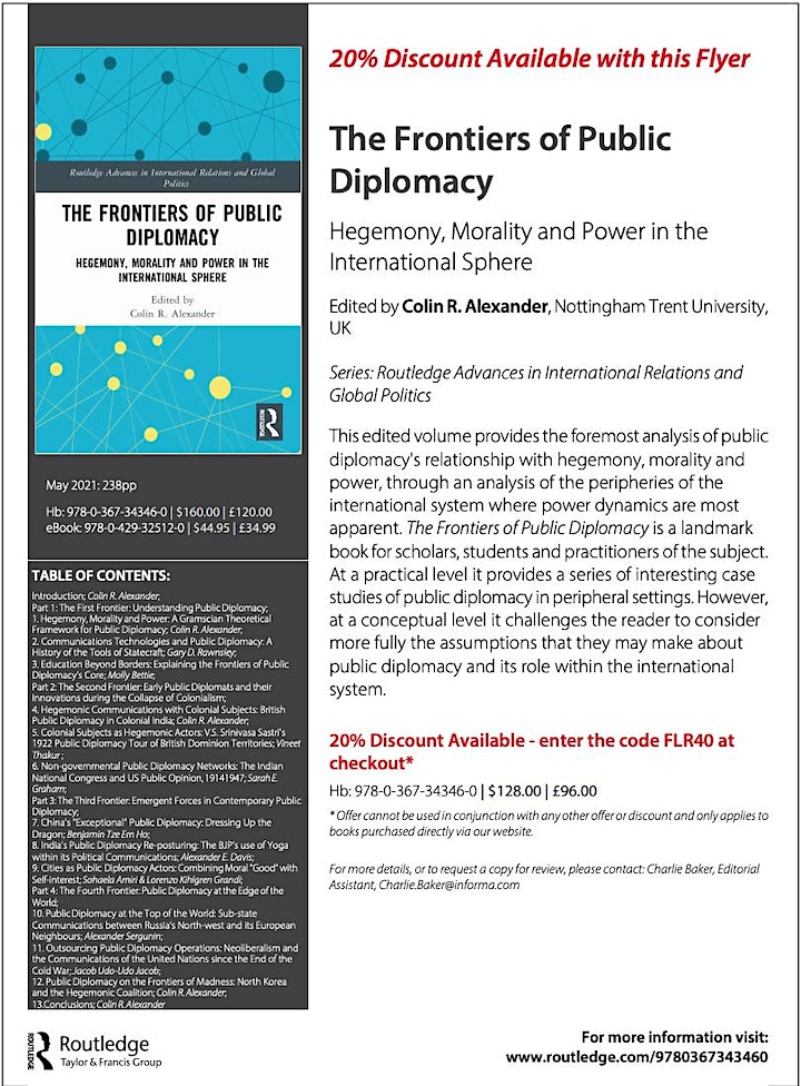 Public Diplomacy and Colonialism (S. Graham, V. Thakur and C. Alexander) image