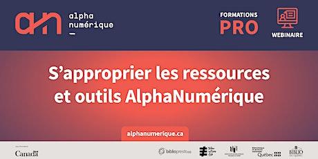 AlphaNumérique : S'approprier les ressources et outils billets