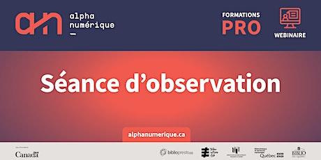 Accompagnement professionnel: Séance d'observation - Les Algorithmes billets