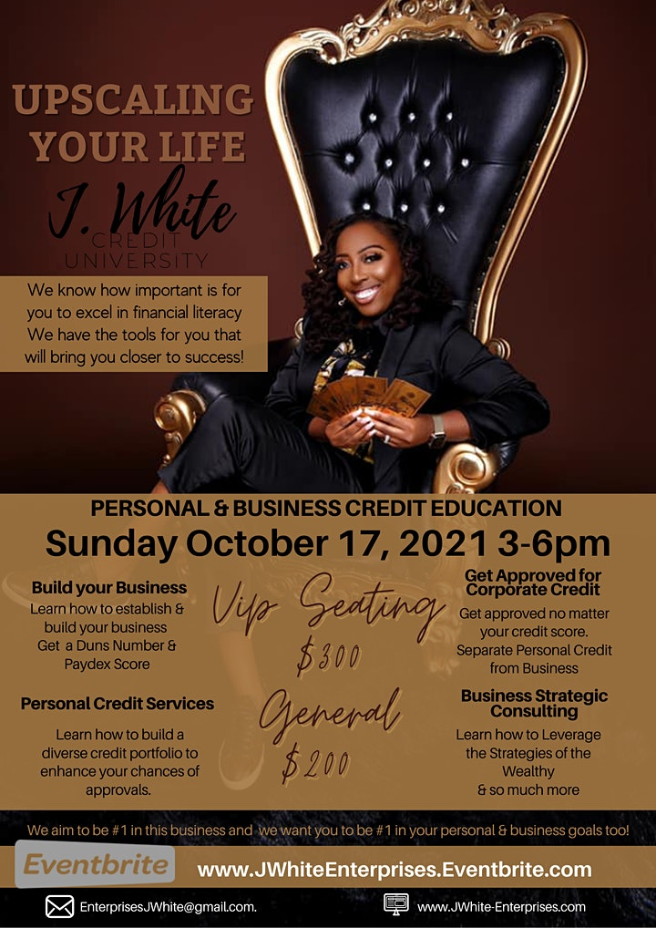 J. White Personal & Business Credit Seminar | Upscaling Your Life image