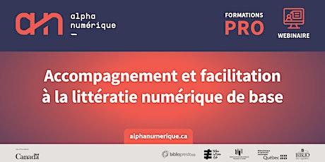 AlphaNumérique: Accompagnement et facilitation à la littératie numérique billets