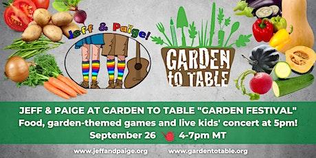 Garden Festival tickets