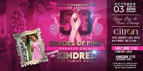 3rd Annual 50 Shades of Pink Breast Cancer Gala tickets