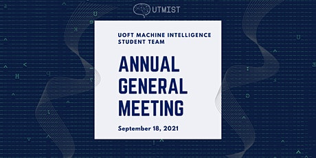Annual General Meeting - UTMIST (2021-22) tickets