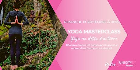 Yoga ma détox d'automne billets