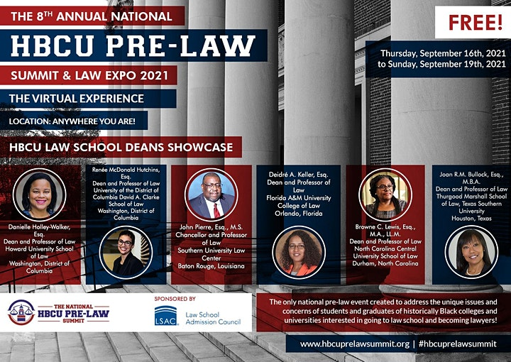 The 8th Annual National HBCU Pre-Law Summit & Law Expo  Sponsored by LSAC image