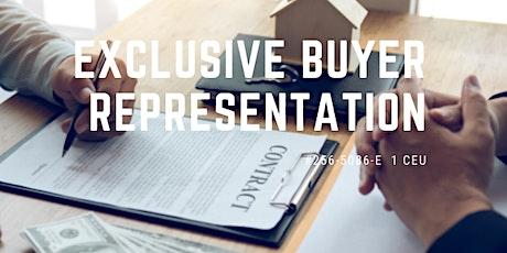 Exclusive Buyer Representation (#256-5086-E, 1 CEU) tickets