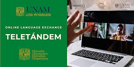 Intercambio de lenguas en línea - Teletándem tickets