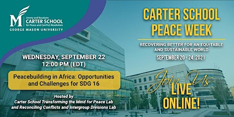 Peacebuilding in Africa: Opportunities and Challenges for SDG 16 tickets