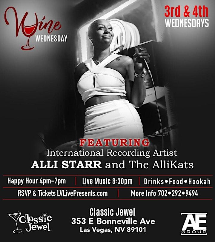 Wine Wednesday f/ International Recording Artist ALLI STARR & The AlliKats image