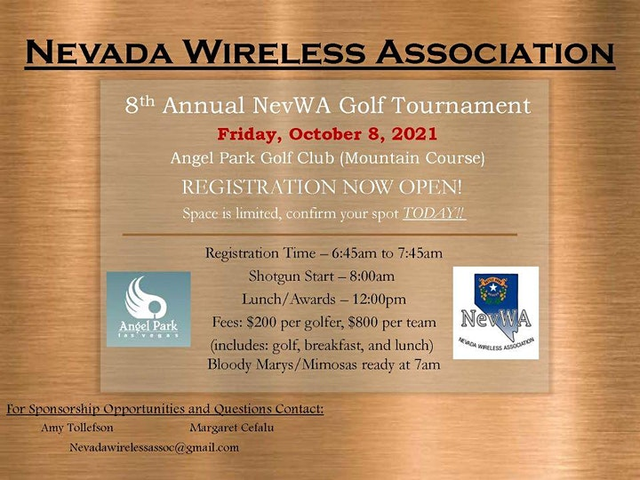 8th Annual Nevada Wireless Association Golf Tournament image