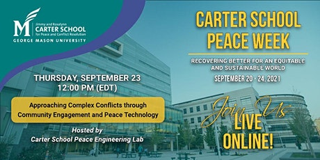 Complex Conflicts through Community Engagement & Peace Technology tickets