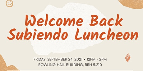 Subiendo: Welcome Back Luncheon tickets