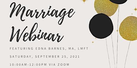 Marriage Webinar tickets