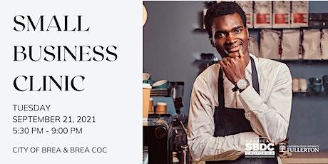 SBDC & Brea - Small Business Clinic tickets