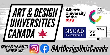 Art & Design Universities Canada: Online Undergraduate Info-Sessions tickets