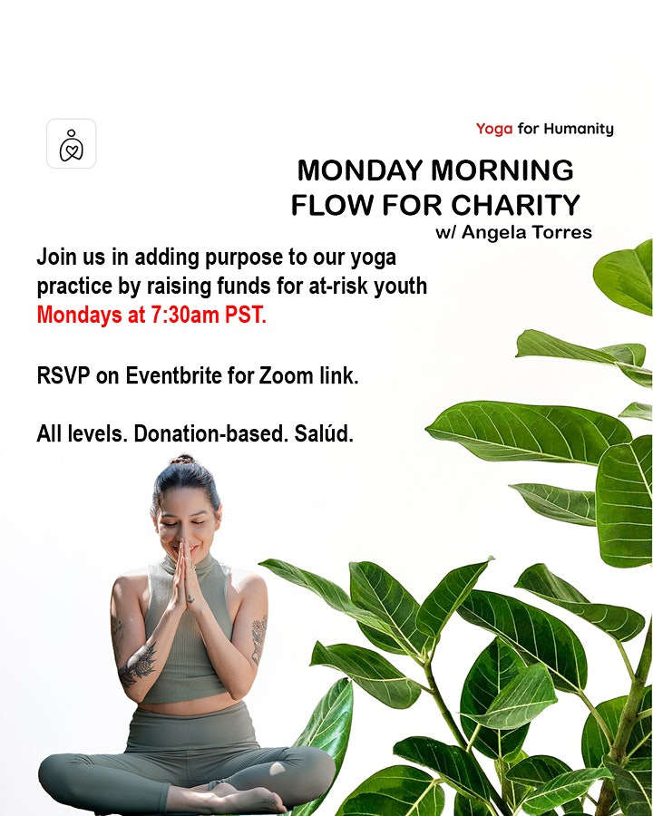 Yoga for Humanity - Monday Morning Flow for Charity image