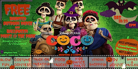 A FREE Haunted Outdoor Movie & Halloween Party @ t tickets
