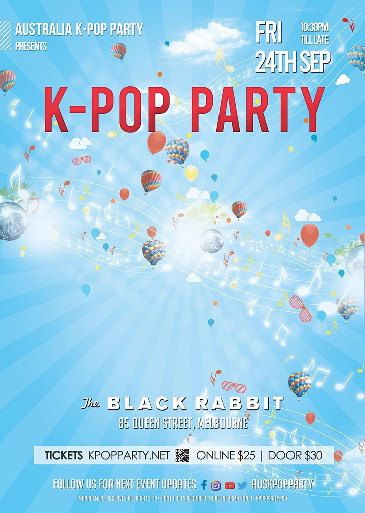 Melbourne K-Pop Party 24th Sep [75% Tickets Sold] image