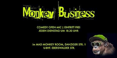 MONKEY BUSINESS | Comedy Open Mic im Prenzlauer Berg | Eintritt frei Tickets