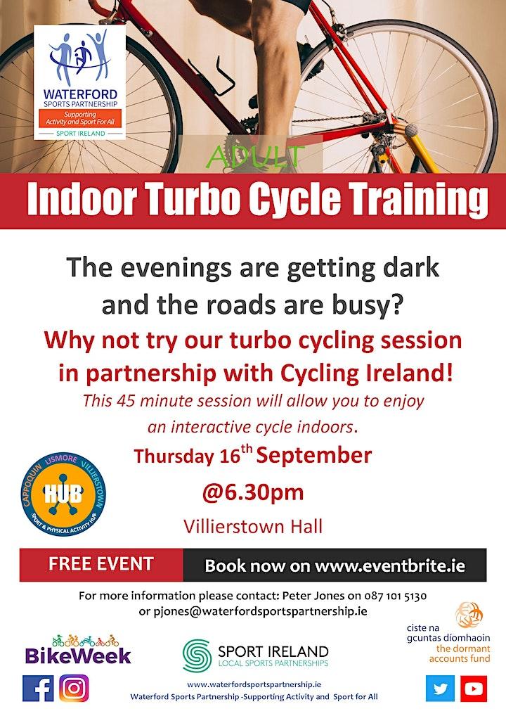 Bike Week - Indoor Turbo Cycle Training - Villierstown image