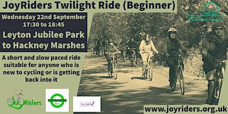 Twilight Ride (Beginner) from Jubilee Park via Hackney Marshes tickets