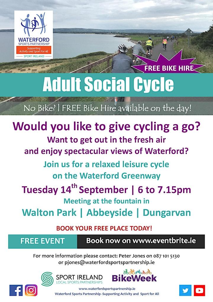 Bike Week - Adult Social Cycle - Dungarvan image