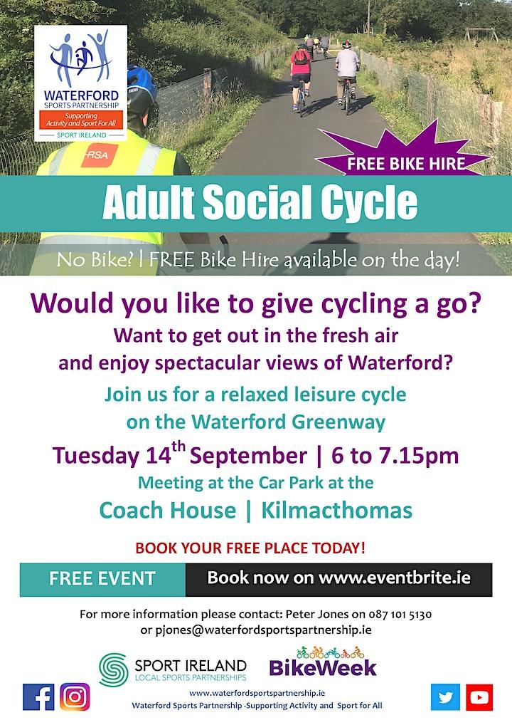 Bike Week - Adult Social Cycle - Kilmacthomas image
