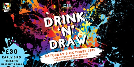 DRINK 'N' DRAW | ICSN Sip and Paint Party tickets