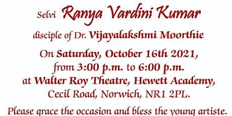 Bharathanatyam Arangetram- Norwich tickets