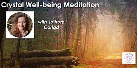 Crystal Wellbeing Meditation: October (free webinar) tickets