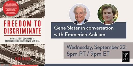 Gene Slater in conversation with Emmerich Anklam tickets