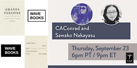 Wave Books @ City Lights with CA Conrad and Sawako Nakayasu tickets