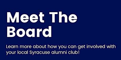 SU in Boston Alum Club: Meet the Board tickets