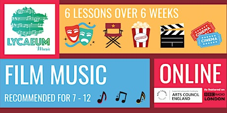 Film Music (7-9yo) - Pick your weekly time slot tickets