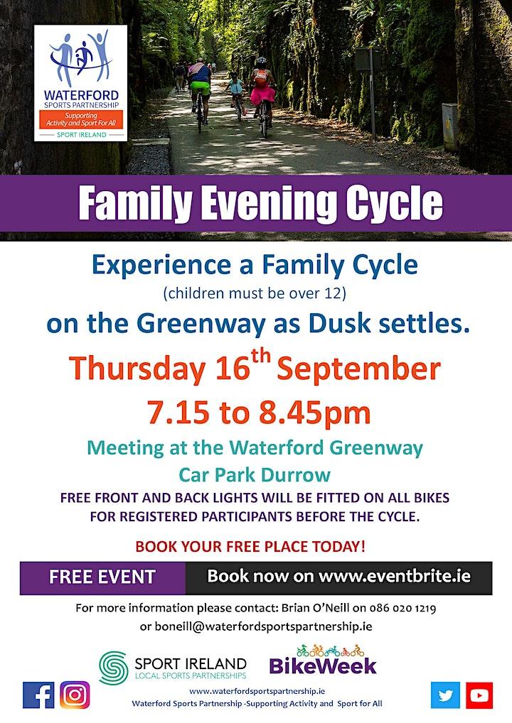 Bike Week - Family Evening Cycle - Durrow image