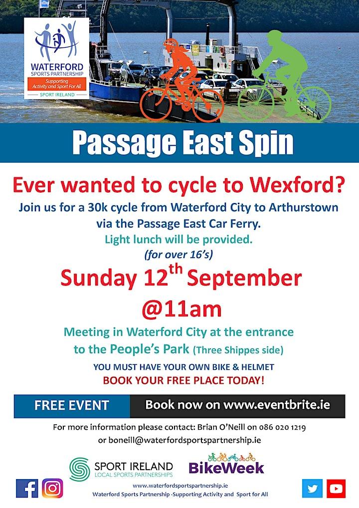 Bike Week - Passage East Spin image