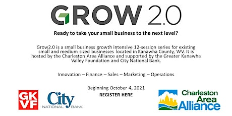 Grow2.0 - Small Business Growth Workshop Series by Charleston Area Alliance tickets